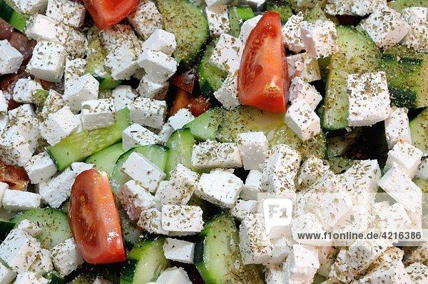 Feta  cucumber and tomato