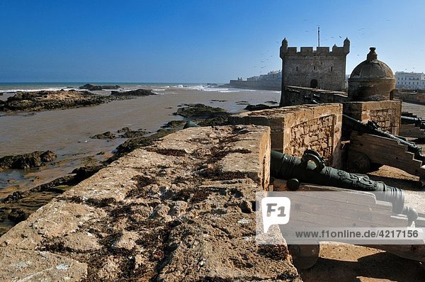 portuguese fortress in the oldtown of Essaouira  Unesco World Heritage Site  Morocco  North Africa
