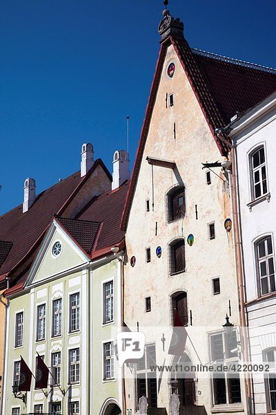 Estonia  Tallinn  Old Town  Lai Street buildings