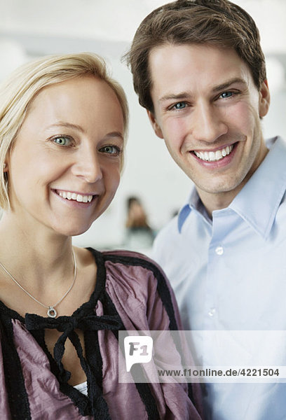 Closeup on man and woman