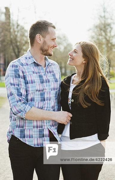 Couple on a stroll