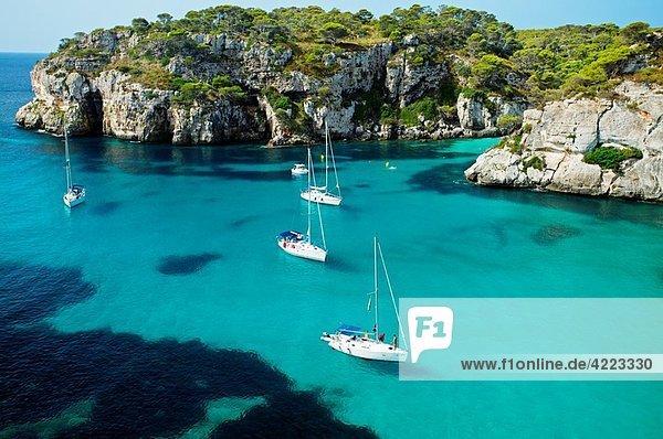 Cala Macarella. Minorca. Balearic Islands. Spain.