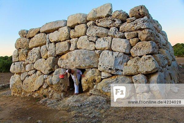 Rafal Rubi funerary building. Minorca. Balearic Islands. Spain.