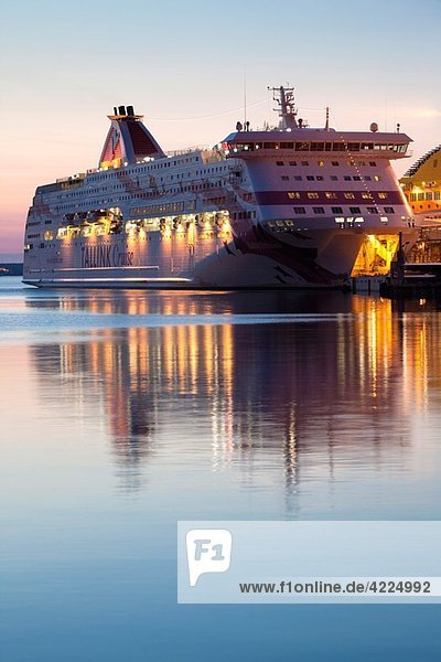 Estonia  Tallinn  Passenger Port  international ferry  sunrise
