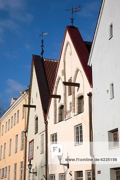 Estonia  Tallinn  Old Town  Ruutli Street buildings