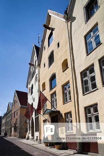 Estonia  Tallinn  Old Town  Pikk Street  Three Sisters Hotel
