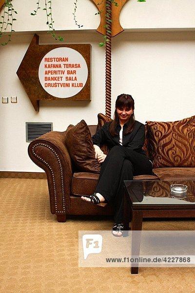 Portrait of a Serbian woman from Vrbak Hotel  in Novi Pazar