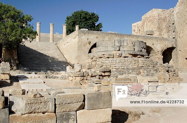 The Acropolis in Lindos   Rhodes   Dodecanese   Greece