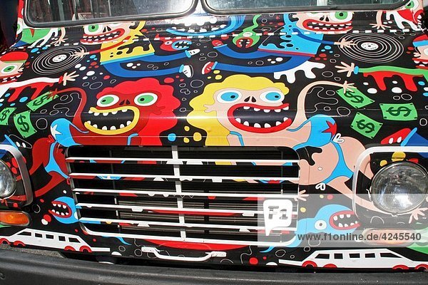 van decorated  New York  USA