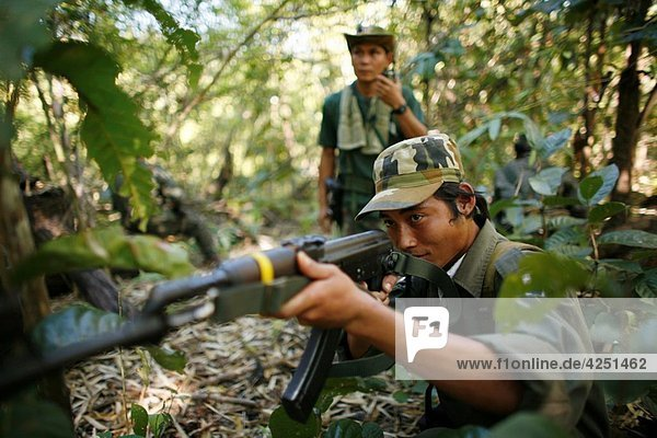 Karen National Union KNU rebels in Burma