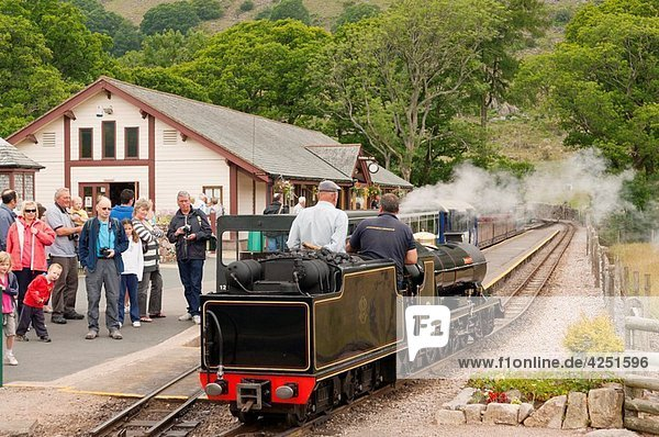 Dalegarth for Boot station on the Ravenglass and Eskdale narrow gauge railway La´al Ratty in Cumbria   England   Great britain   Uk