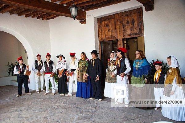 Regional Dance and Dress. Sant Miquel de Balansat. Ibiza. Balearic Islands. Spain.