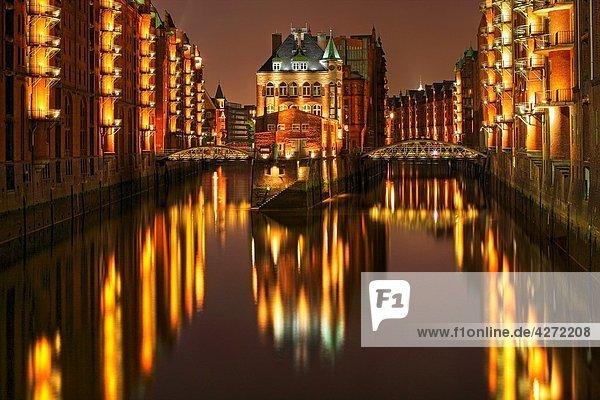 Speicherstadt at Hamburg Harbour  Germany