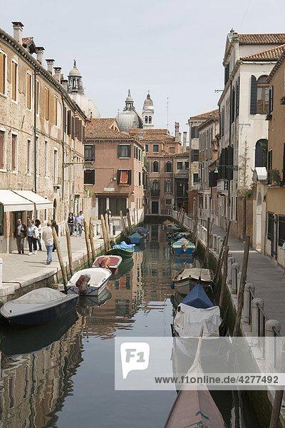 Italien  Veneto  Venedig  canal