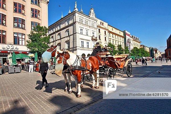 Main Market Square  Old Town  Krakow  Poland  Europe.