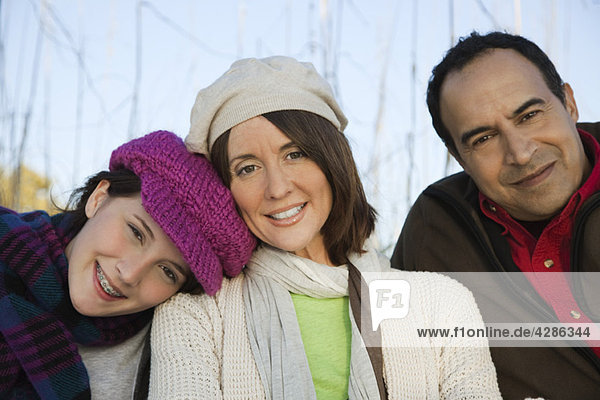 Family together outdoors  portrait