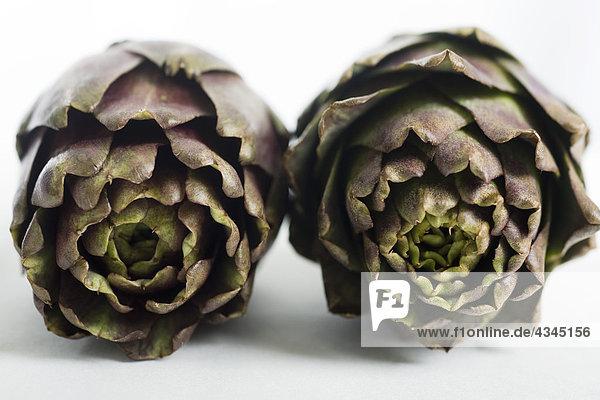 Purple artichokes