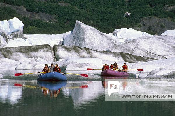 Sparren auf Placer River unterhalb Spencer Gletscher KP AK Sommer