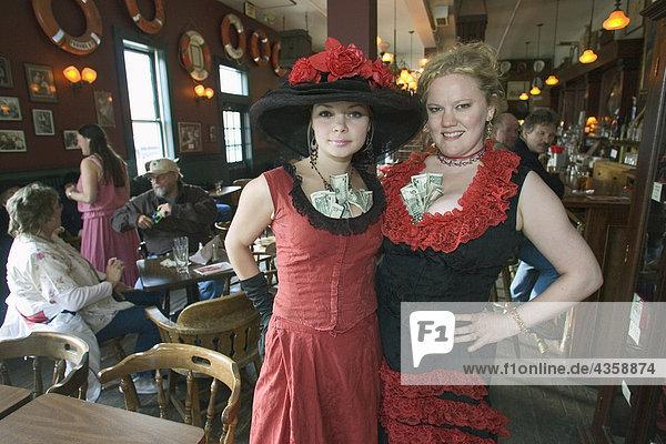 Waitresses in Costume @ Red Onion Saloon Skagway Alaska Spring