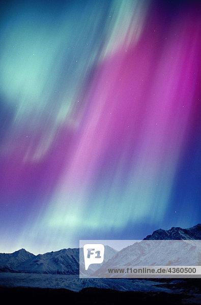 Grün Aurora Over Matanuska Gletscher SC Alaska