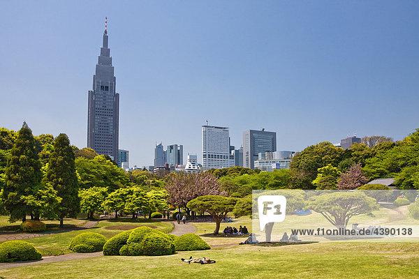 Japan  Asien  Fernost  Tokyo  Shinjuku  Gyoen  Park  Reisen  Tourismus  Urlaub  Ferien