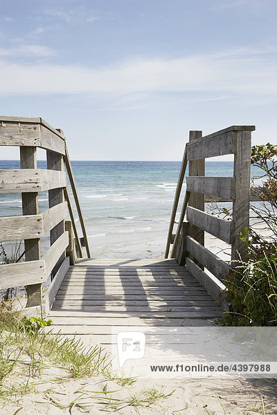 stairway leading to beach