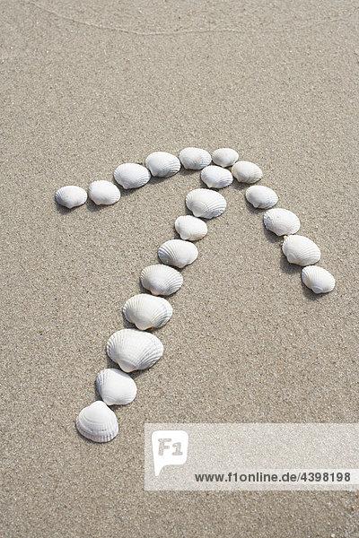 Strand Produktion Sand Pfeilzeichen Pfeil