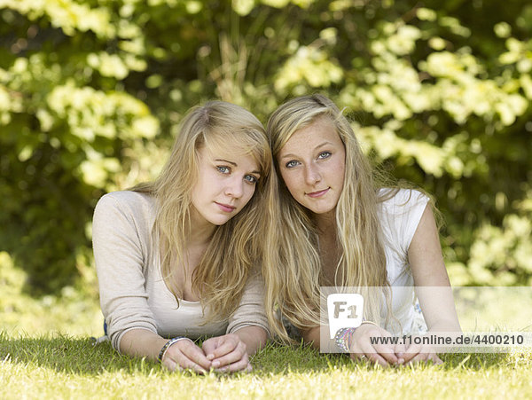 Two girls in the park