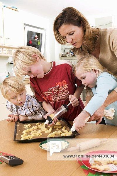Produktion Keks Mutter - Mensch