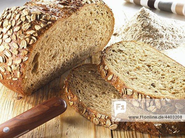 Organische sechs Korn Brot