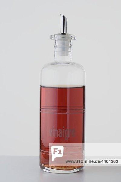 Raspberry vinegar in bottle