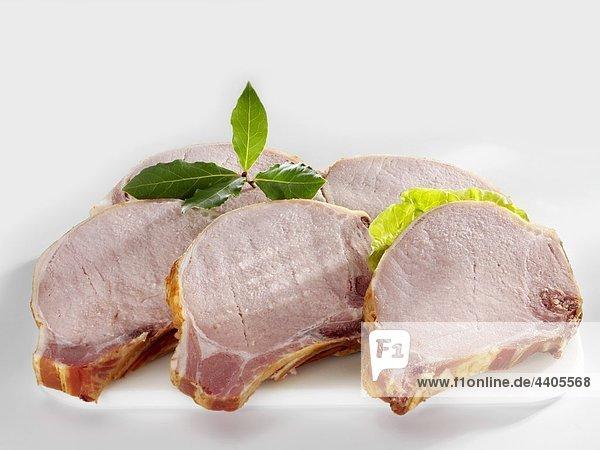 Mehrere Geräuchertes Schweinefleisch Kotelett