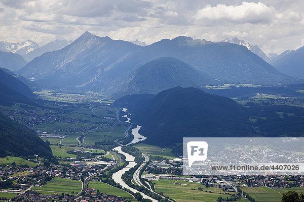 Austria  Tyrol  Telfs  Inn valley