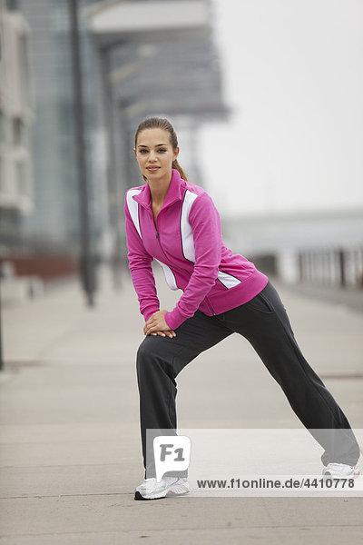 Junge Frau beim Sport  Porträt