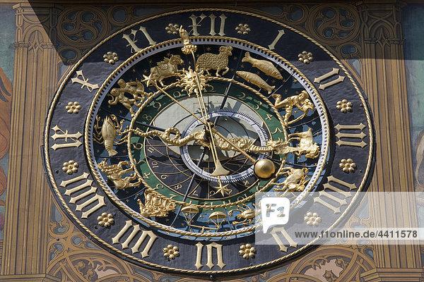 Deutschland  Ulm  Astronomische Uhr am Rathaus