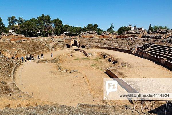 Merida  Badajoz Province  Spain The first century BC Roman amphitheatre