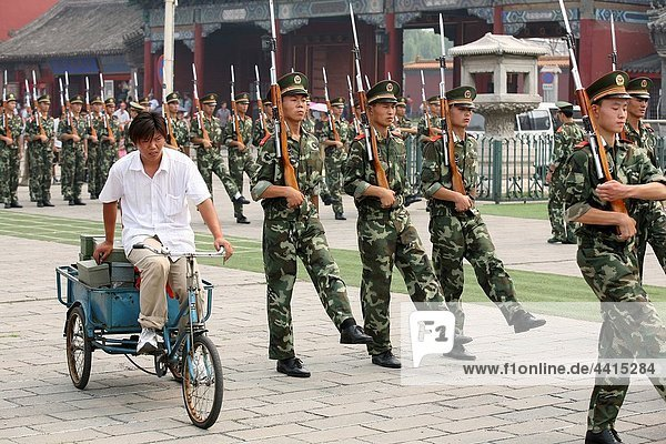 Militar school. Beijing. China.