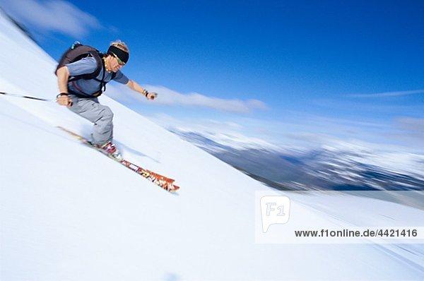 Tourist Skifahren