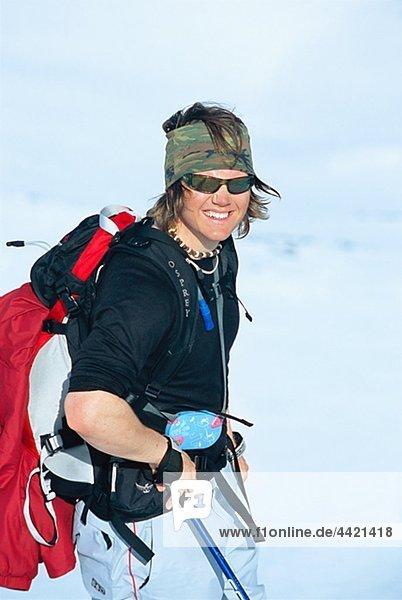 Weibliche Skifahrer
