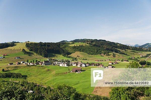 Landschaft Überfluss Dorf Ansicht