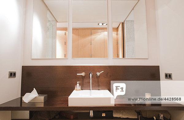 Waschbecken Becken Badezimmer Eleganz Arbeitsplatte Holz