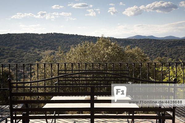 sitzend Balkon Ländliches Motiv ländliche Motive Garten Zimmer Eisen
