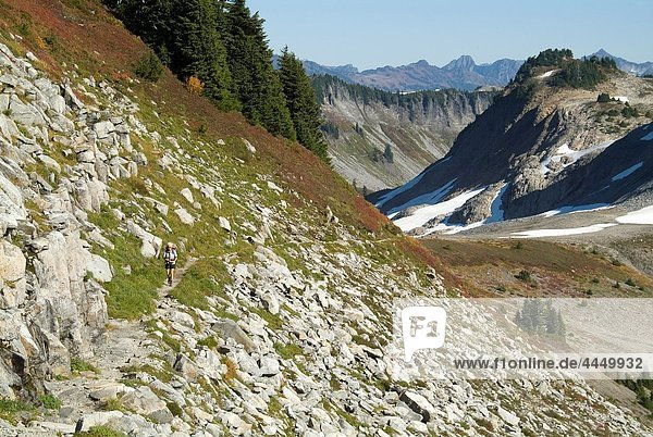 mountains near Mount Baker  Washington state  USA