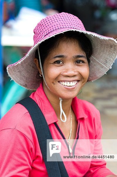 Woman in market  Pursat  Cambodia