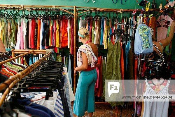 clothing shop  Montezuma  Nicoya peninsula  Costa Rica.