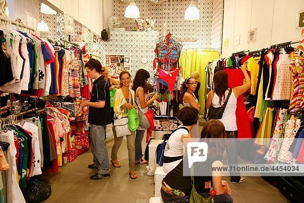 Palermitana Fashion shop in the trendy area of Palermo Viejo known as Soho Buenos Aires  Argentina