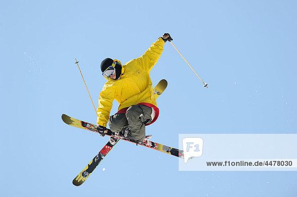 Skifahrer Himmel Kraulschwimmen kraulen bekommen