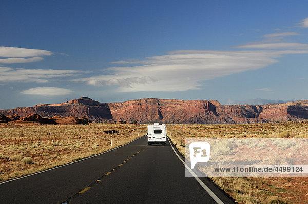 Roadbear  RV  Camper  Road  Monument Valley  Arizona  USA  United States  America  road  straight  long