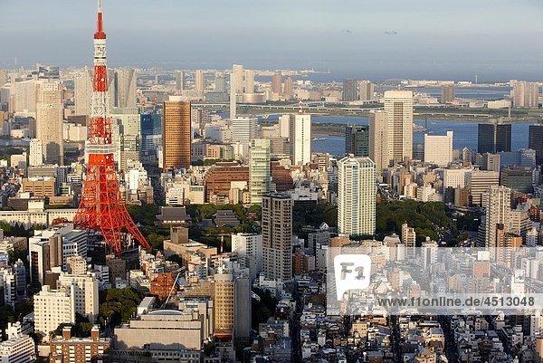 Tokyo Tower  Tokyo City View  Roppongi Hills Mori Tower  Tokyo  Japan.