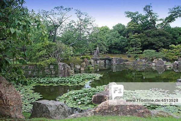 Nijo castle gardens Kyoto Kansai  Japan